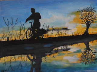 vroege fietser